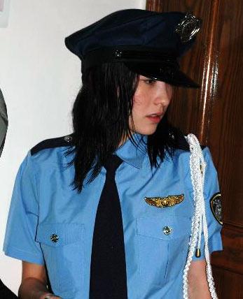 张柏芝/张柏芝的警服诱人照。