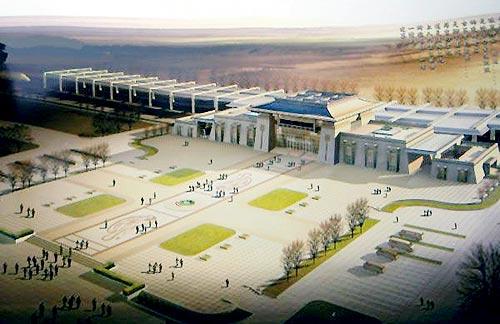 敦煌火车站将成甘肃第二大 机场平时可提供包机服务