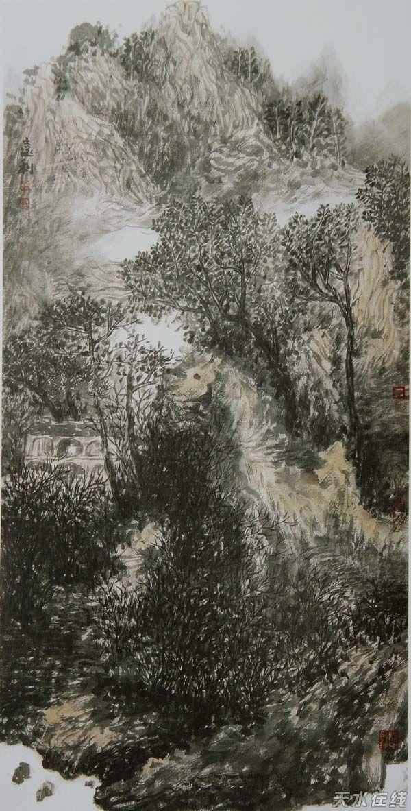 孙远利 王平中国画作品展在天水市群艺馆开展(图)