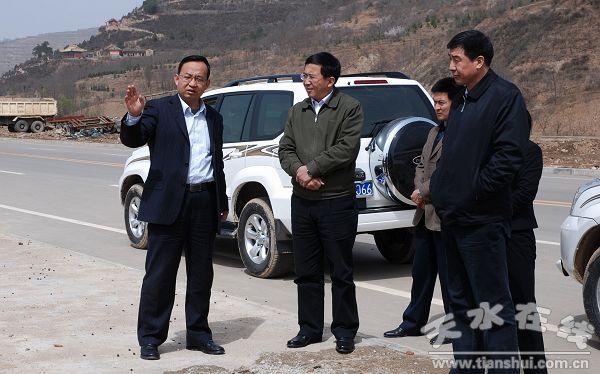 (在东部新城区调研)-天水市委常委 宣传部长王光庆在清水县调研