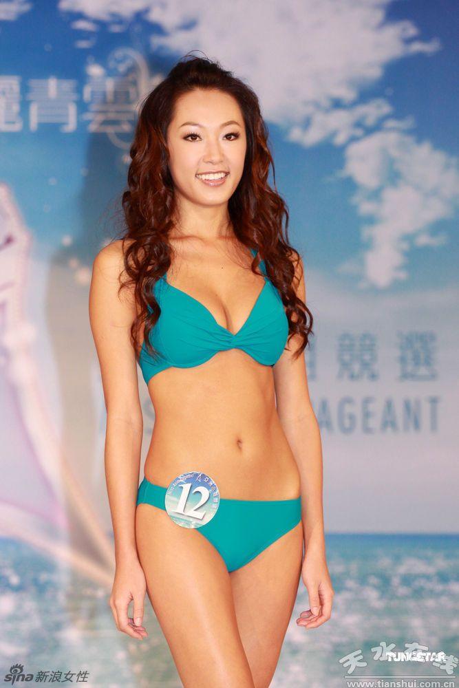 比基尼泳衣/亚姐出席竞选活动 比基尼泳衣秀身段(组图)//天