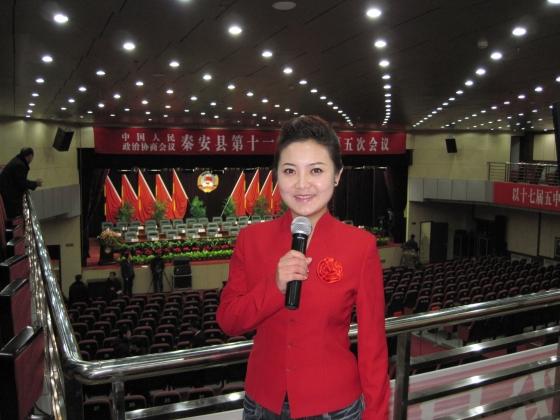 秦安电视台首次实现两会直播组图