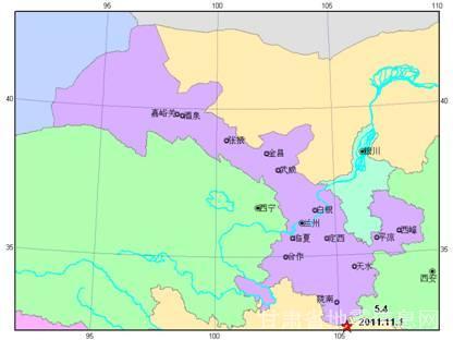 (四川省广元市青川县与甘肃省陇南市文县交界5.4级地震空间位置图)