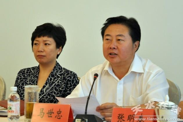 马世忠王锐率天水经贸代表团与青岛民营企业家座谈(图