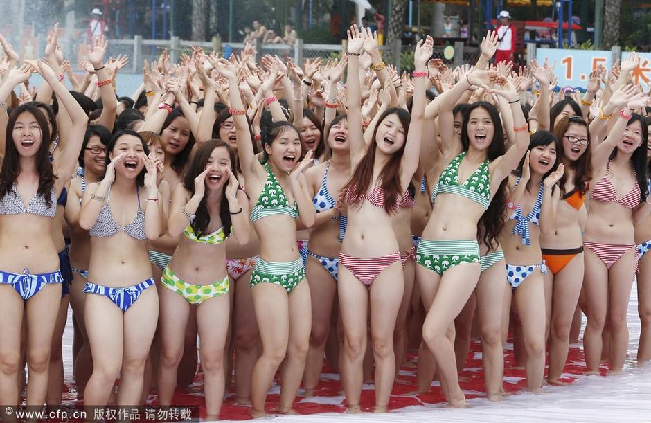 广州办万人比基尼迎立夏