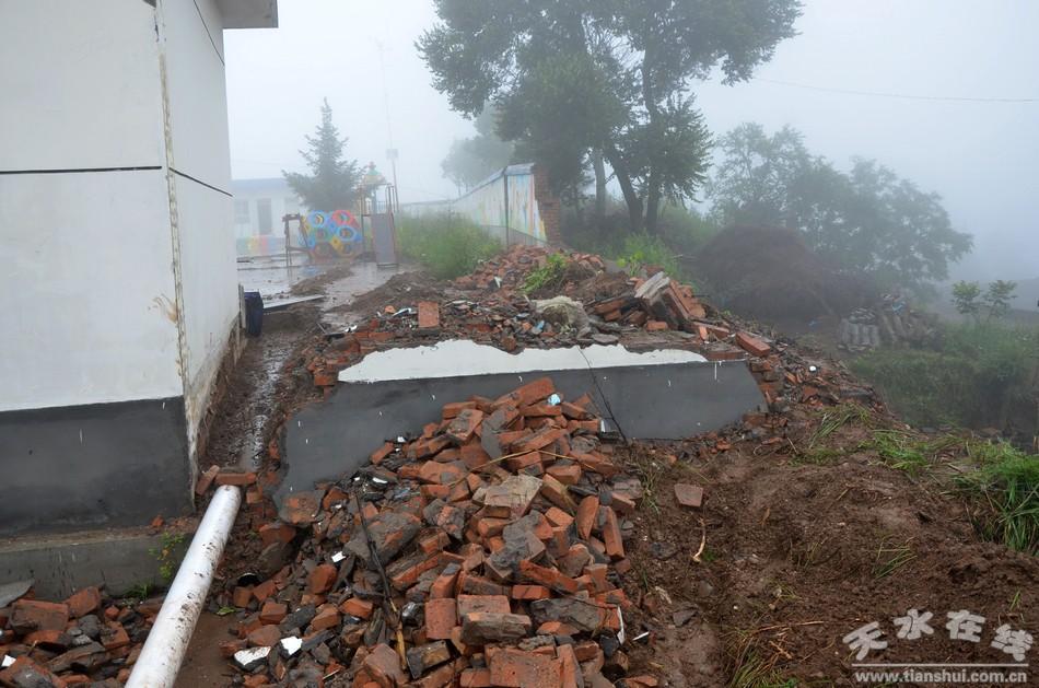 【直击灾情】清水遭遇强降雨多所学校校舍受损