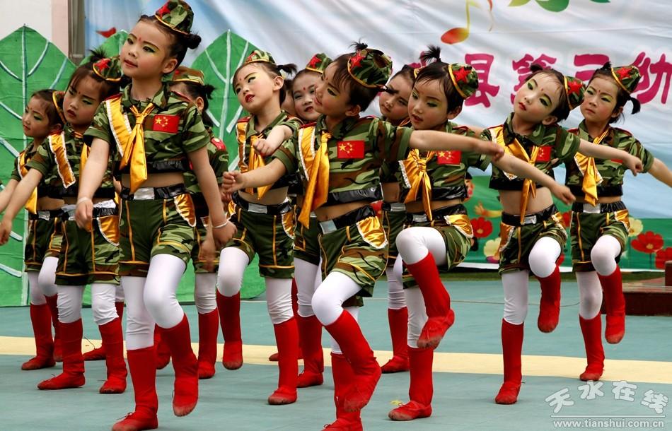 清水县各幼儿园以丰富的文艺演出庆祝六一儿童节(图)