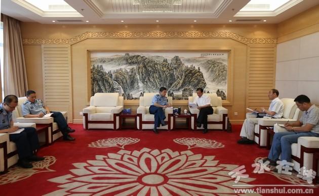 郭奇若赴西安北京汇报衔接天水机场迁建工作(图)