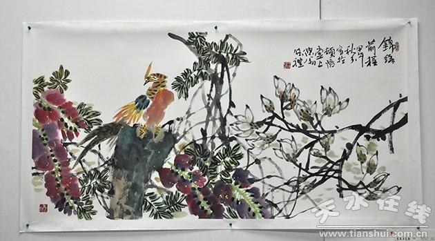 当代著名中国画家王德礼大写意花鸟画展在天水开展(图