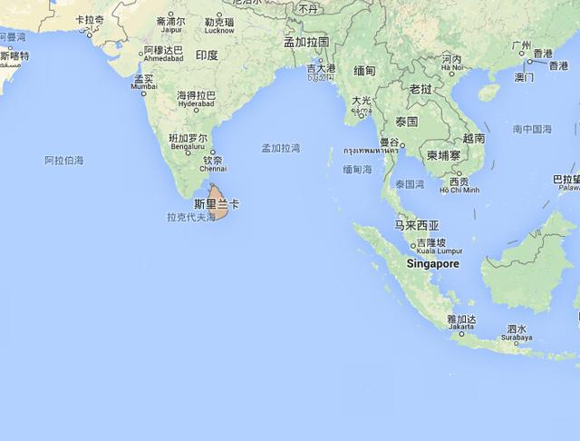 锡兰岛地形图