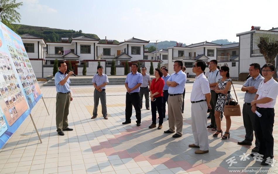 广西来宾市党政考察团在清水考察精准扶贫工作(图)