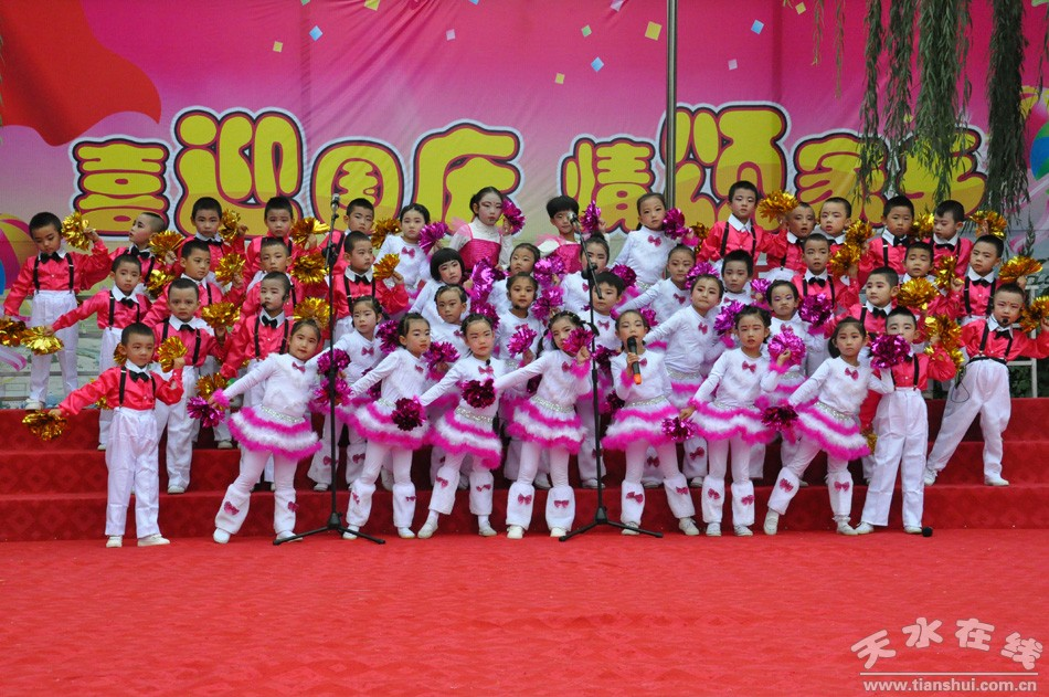 清水县各幼儿园开展说唱活动共庆国庆(组图)