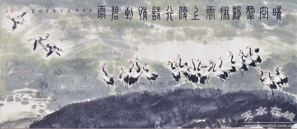 国画群鹤图图片