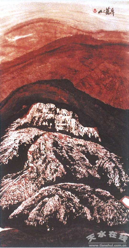 天水籍著名画家刘万年西藏山水画精选之二(图)