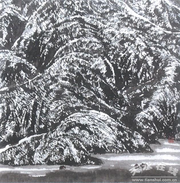 天水籍著名画家刘万年西藏山水画精选之六(图)