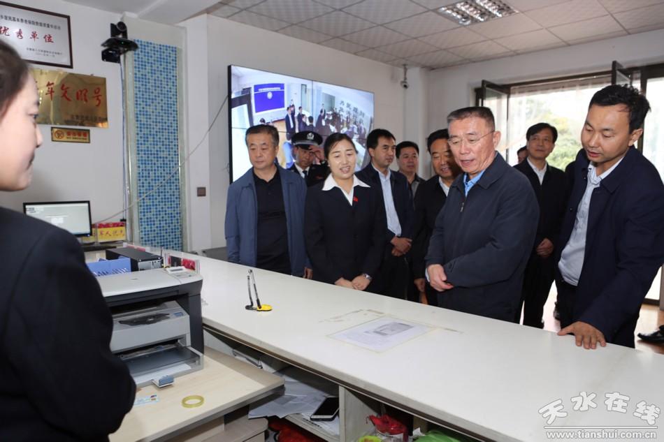 天水市委书记王锐在武山县和甘谷县调研