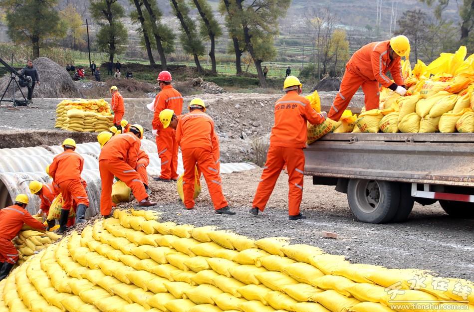 甘肃省公路交通防汛减灾应急综合演练在天水举行(图)