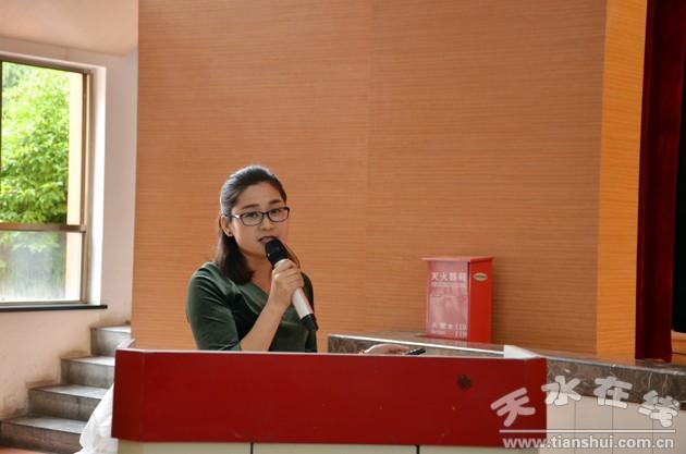 秦安伟智幼儿园园长蔡霞娟介绍了作为中国科学院教育实验园的秦安伟