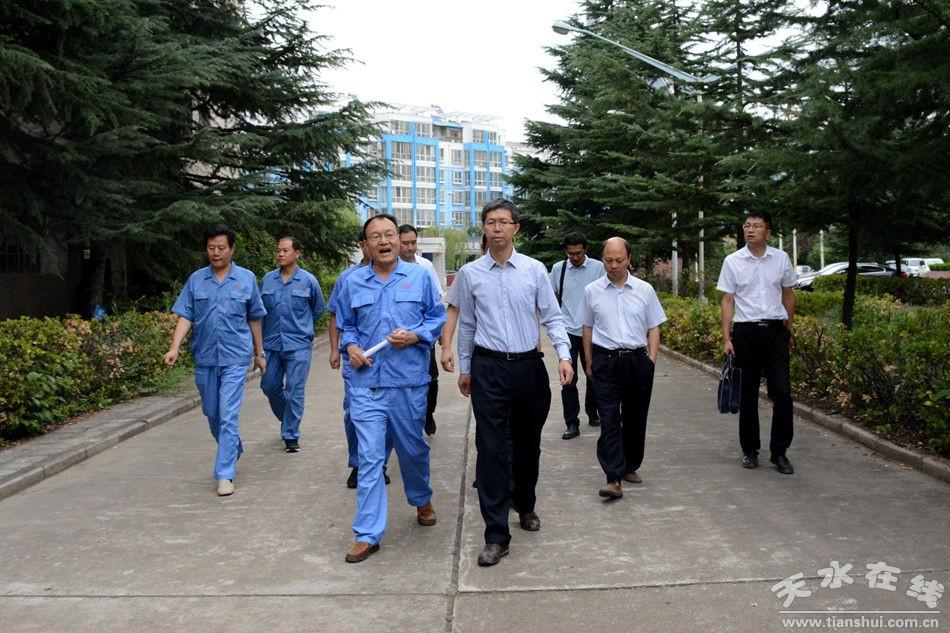 刘骁深入天水锻压调研工业企业生产经营情况