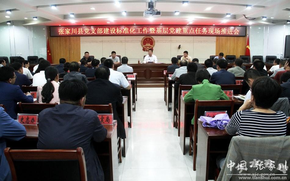 张家川县召开全县党支部建设标准化工作现场推进会