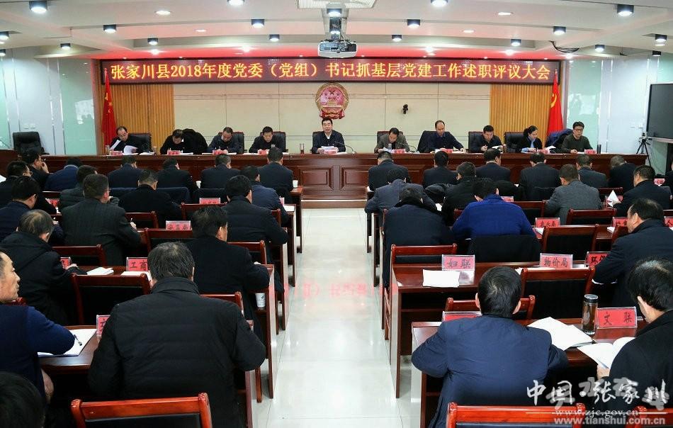 张家川县召开2018年度党委(党组)书记抓基层党建述职评议大会