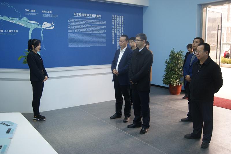 天水市委常委、副市长刘骁在开发区调研